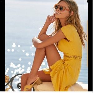Lulus Wistful Wonderer Mustard Yellow  Dress